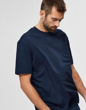 Selected Homme Loose Gilman T-shirt in Navy Blazer