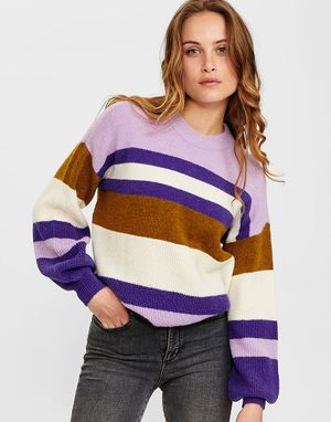 Numph Calamity Pullover in Prism Violet