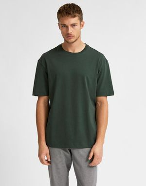 Selected Homme Loose Gilman T-shirt in Sycamore Green