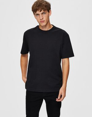 Selected Homme Loose Gilman T-shirt in Black