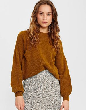 Numph Calamity Pullover in Breen