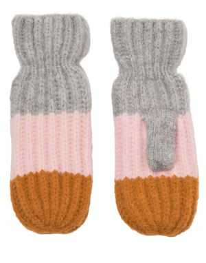 Numph Ribby Mittens in Stripe
