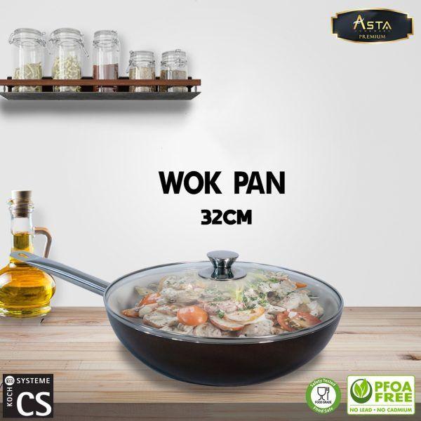 Wok Pan Asta Premium CS KochSysteme 32cm