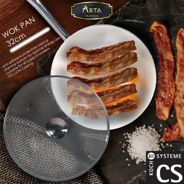 Wok Pan Premium CS KochSysteme 32cm