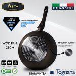 Wok Pan Diamantea Tognana 28 CM - Asta Premium