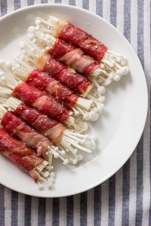 Resep Jamur Enoki Daging Sapi ala Jepang
