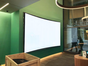 BLM Technologies curved LED screen