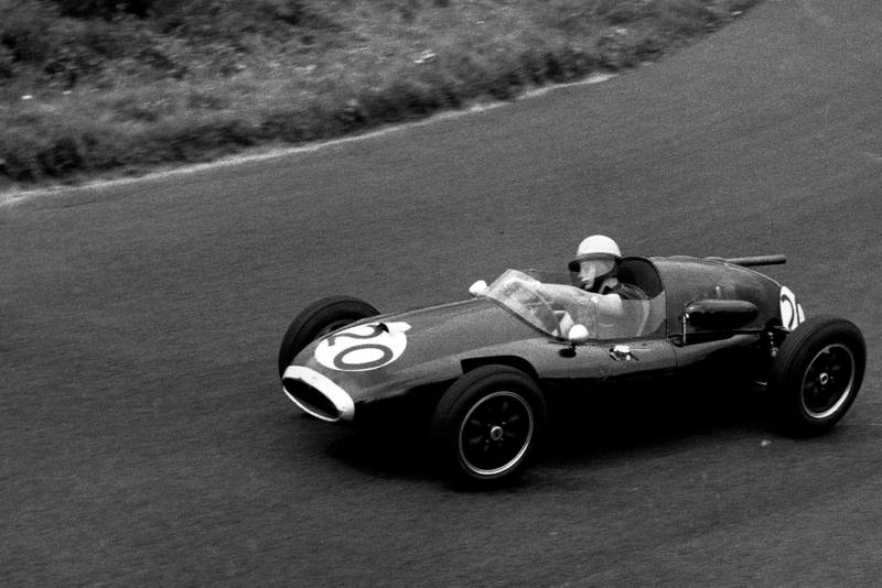 Bruce McLaren on his grand prix debut at the Nurburgring in 1958
