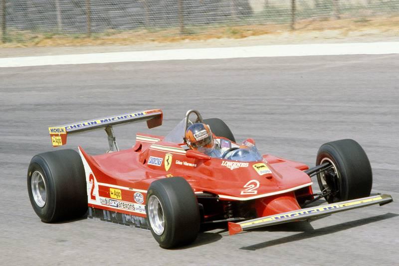 Gilles Villeneuve at the wheel of his Ferrari 312T5