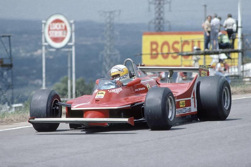Jody Scheckter driving a Ferrari 312T5