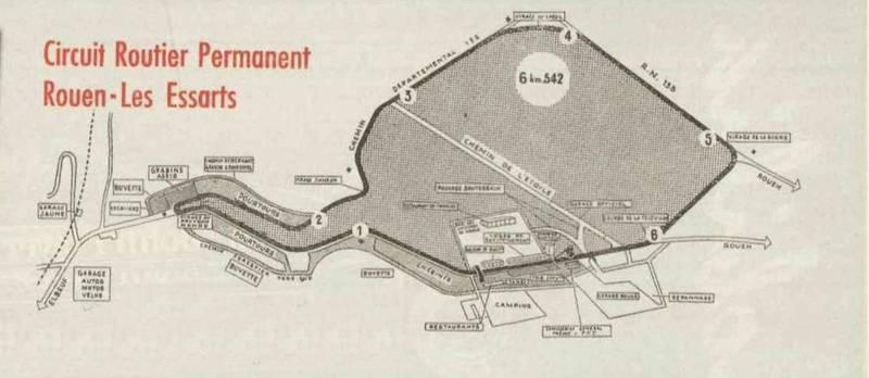 Rouen les Essarts 1950s map