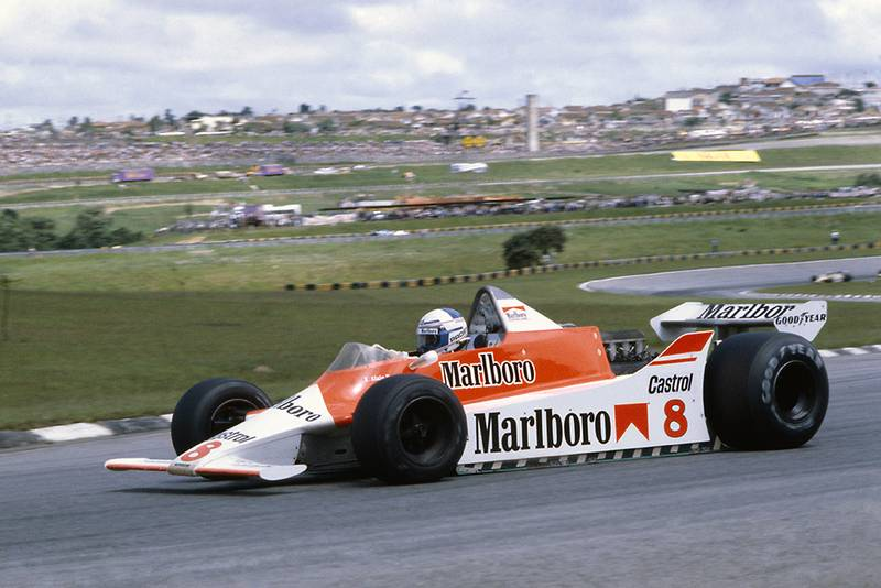 Alain Prost in his McLaren M29B-Ford Cosworth.
