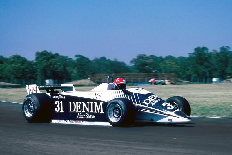 Eddie Cheever driving his Osella Cosworth.
