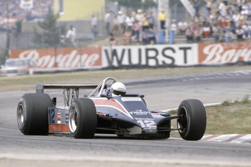 Elio de Angelis in a Lotus 81-Ford Cosworth.