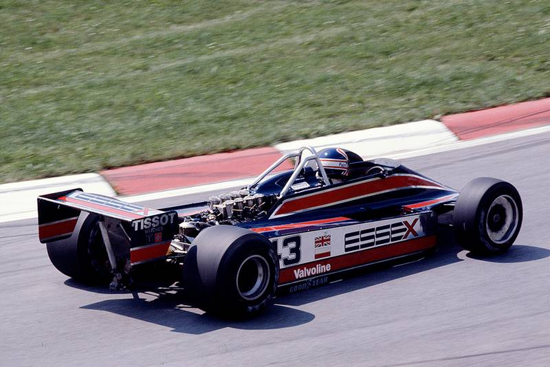 Nigel Mansell in his Lotus 81B Ford.