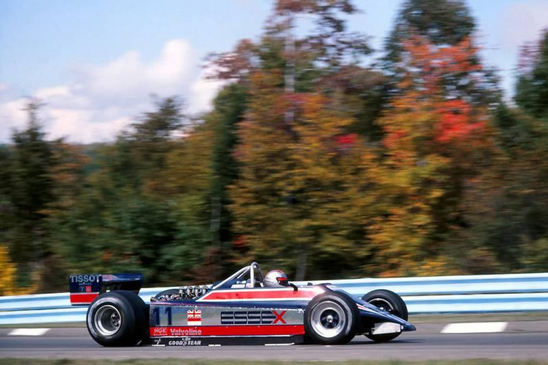 Mario Andretti at the wheel of his Lotus 81.