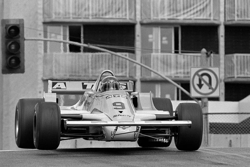 Jan Lammers in his ATS D4. He crashed out of the race on lap 42.
