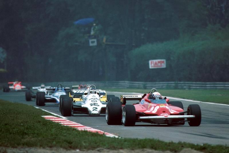 Didier Pironi (Ferrari 126 CK) leads Carlos Reuteman.
