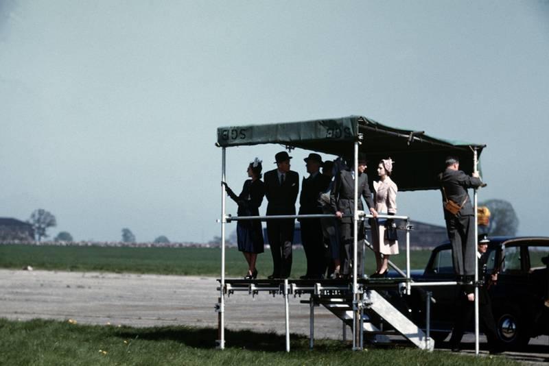 The Royal box at the 1950 British Grand Prix at Silverstone