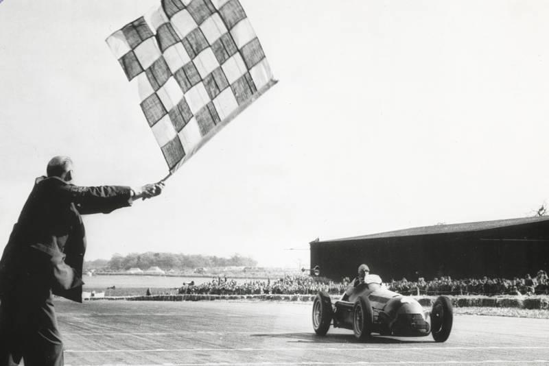 Farina wins the 1950 British Grand Prix at Silverstone