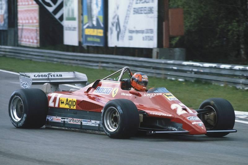Gilles Villeneuve (Ferrari 126C2) during practice before his fatal crash.
