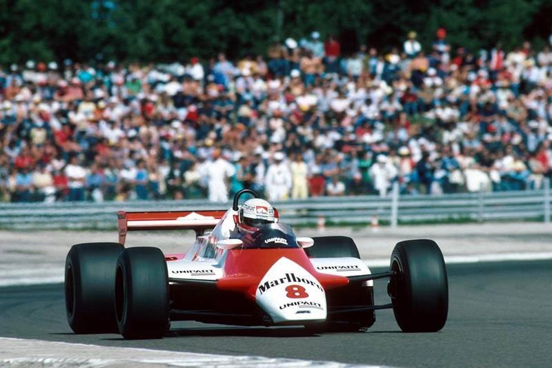 Niki Lauda in his Mclaren MP4B.