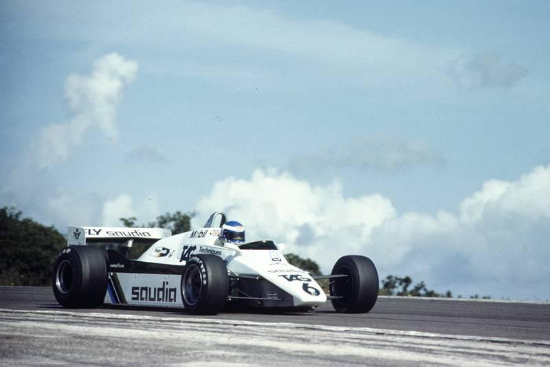 Keke Rosberg in his Williams FW08-Ford.