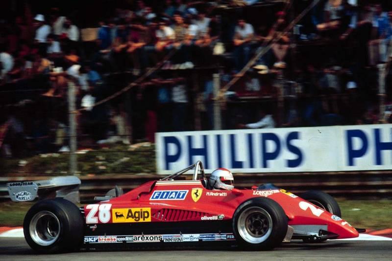 Mario Andretti finishes 3rd in the Ferrari in his pen-ultimate Formula 1 race.
