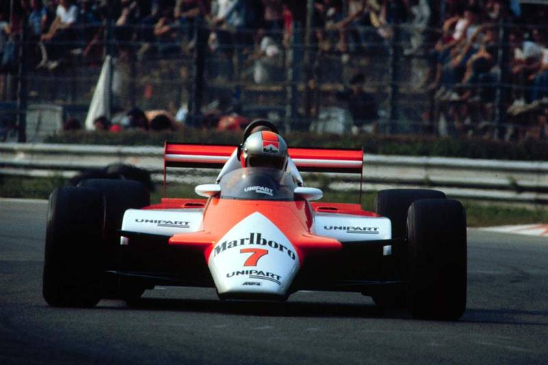 John Watson finishes 4th in the McLaren Ford.
