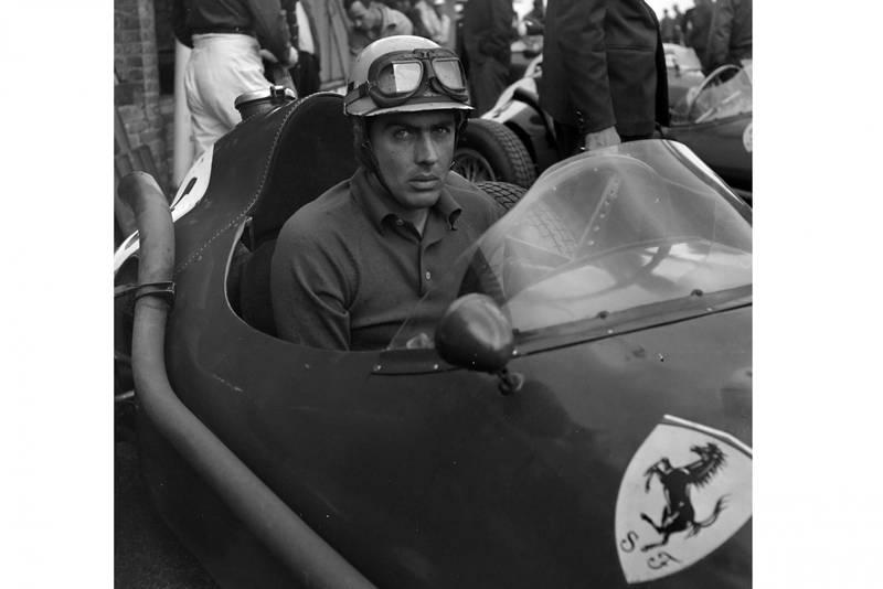 Luigi Musso in his Ferrari 246.