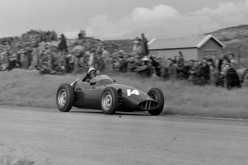 Jean Behra in his BRM P25.