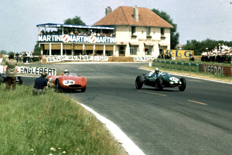 Henry Taylor in a Cooper T45-Climax leads John Fast in his OSCA.