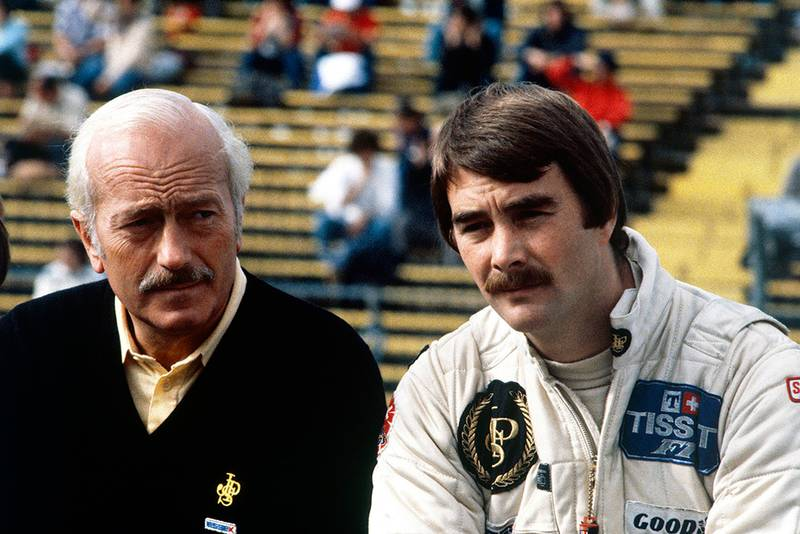 Colin Chapman and Nigel Mansell