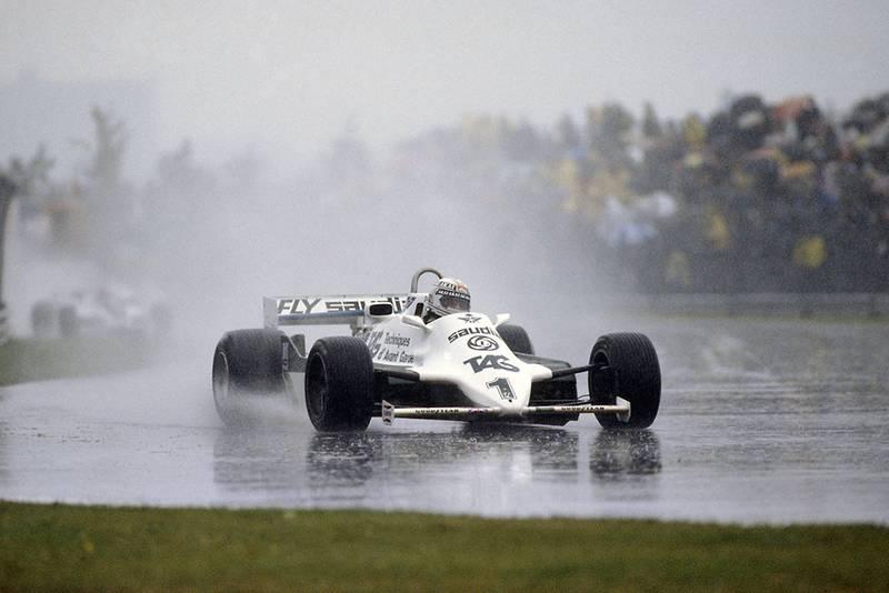 Alan Jones in his Williams FW07C-Ford Cosworth.