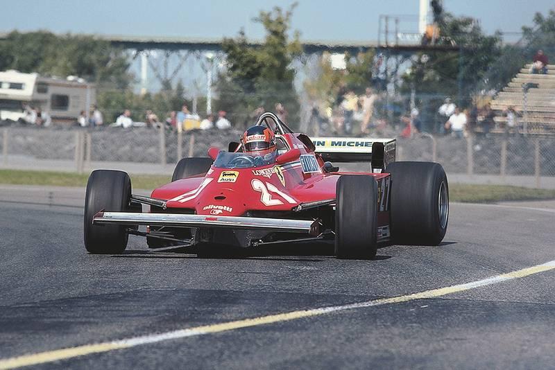 Gilles Villeneuve in his Ferrari 126CK.