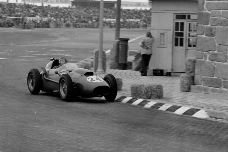 Wolfgang von Trips in his Ferrari Dino 246.