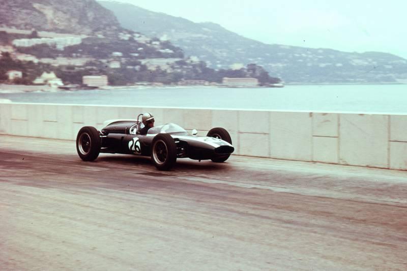 Bruce Mclaren in his Cooper T55 Climax.