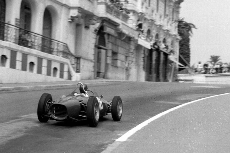 Richie Ginther in his Ferrari 156.