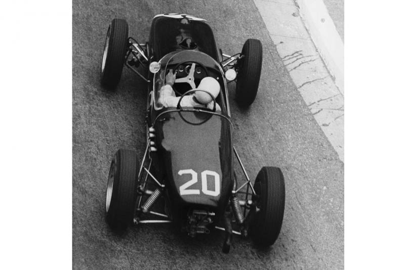 Stirling Moss in his Lotus 18-Climax.