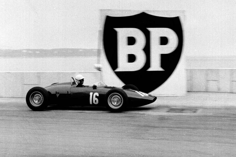 Tony Brooks drives his BRM P48/57 Climax.