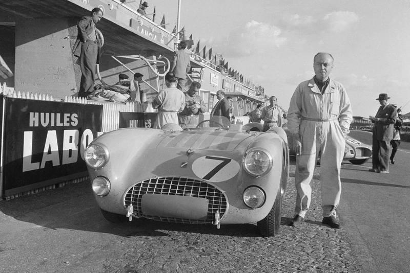 Pierre Levegh at the 1953 Le Mans 24 Hours race