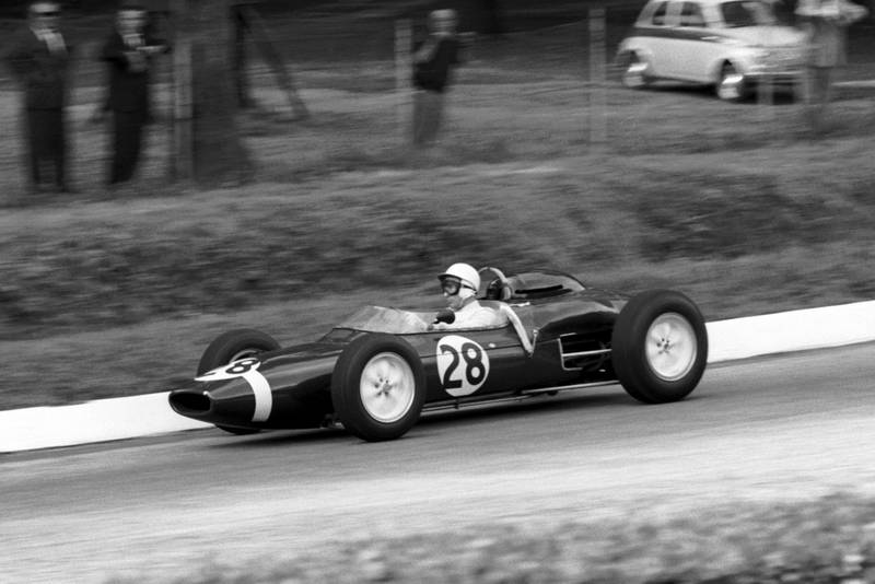 Stirling Moss in his Lotus 21.