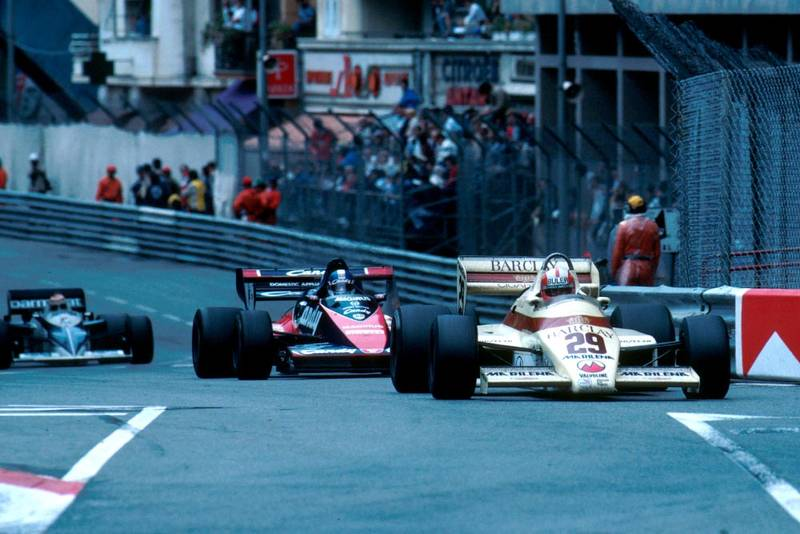 Marc Surer in his Arrows A6, he did not finish.