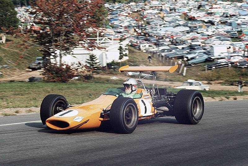 Denny Hulme in his McLaren-Ford at the 1968 Canadian Grand Prix