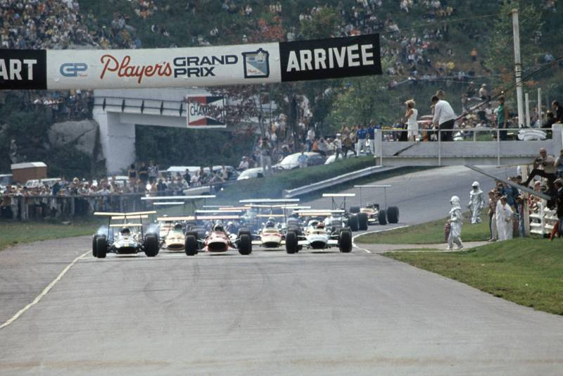 The 1968 Canadian Grand Prix gets underway.