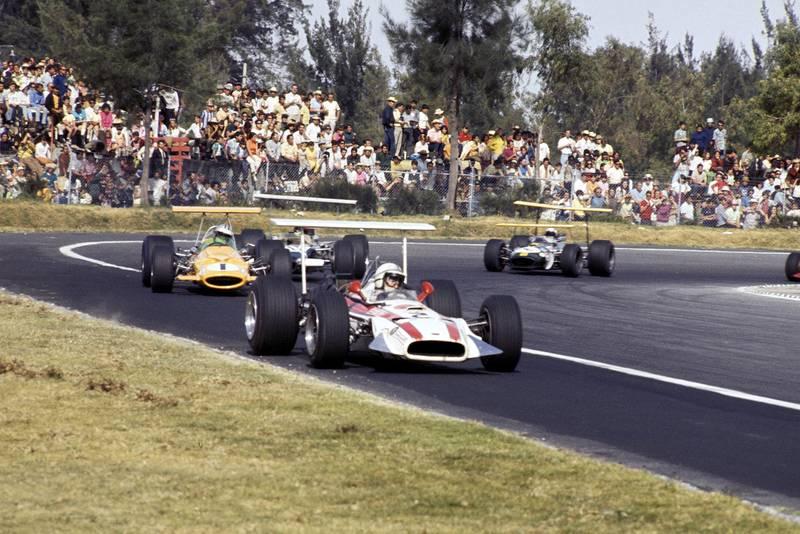 John Surtees in his Honda at the 1968 Mexican Grand Prix