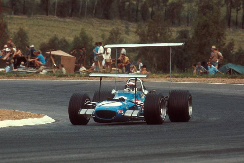 Jackie Stewart in his Matra-Ford at the 1969 South African Grand Prix.
