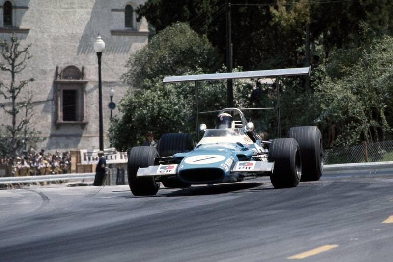 Jackie Stewart in his Matra at the 1969 Spanish Grand Prix.