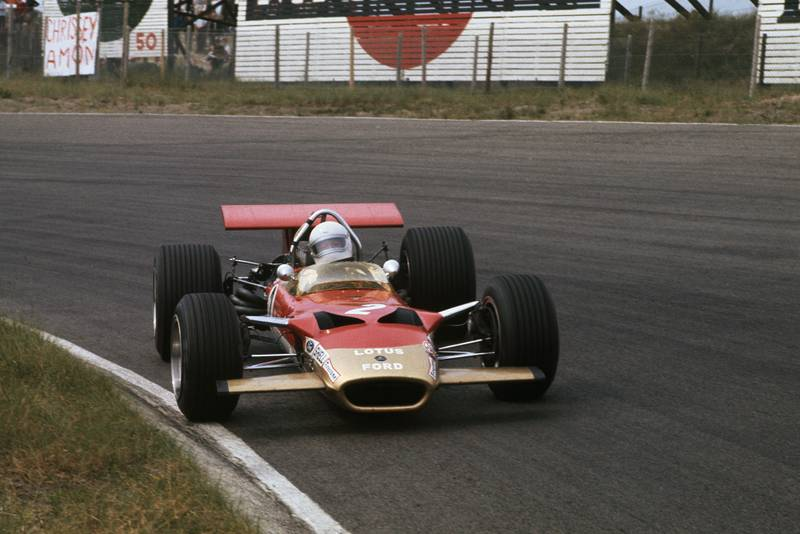 Jochen Rindt driving for Lotus in the 1969 Dutch Grand Prix