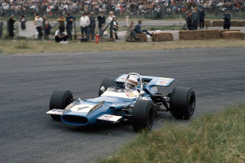 Jackie Stewart in his Matra at the 1969 Dutch Grand Prix